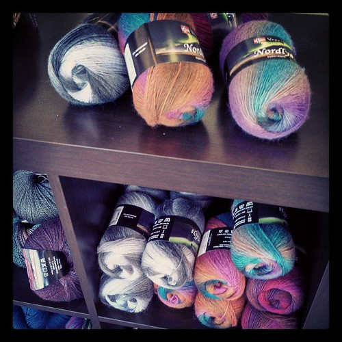 Pretty #sockyarn at Twill #nashua #newhampshire #yarnshop #knitting