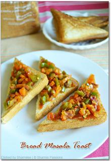 Bread Masala Sandwich