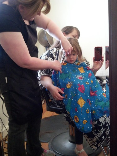Lily's first big girl haircut