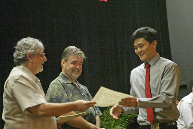 <p>The University of Hawaii at Manoa's College of Engineering held its annual spring convocation ceremony for graduating engineering students at Campus Center in front of 500 family and friends. May 10, 2013</p>