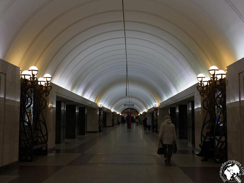 Intérieur d'une station de métro