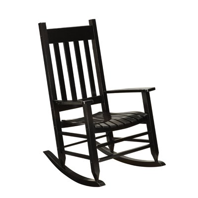 lowes outdoor rocking chair black