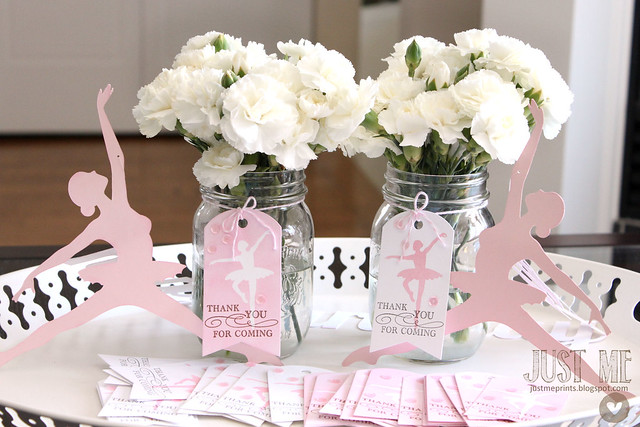ballerina birthday tags