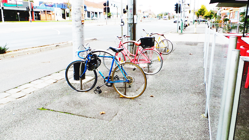 bikes colourful