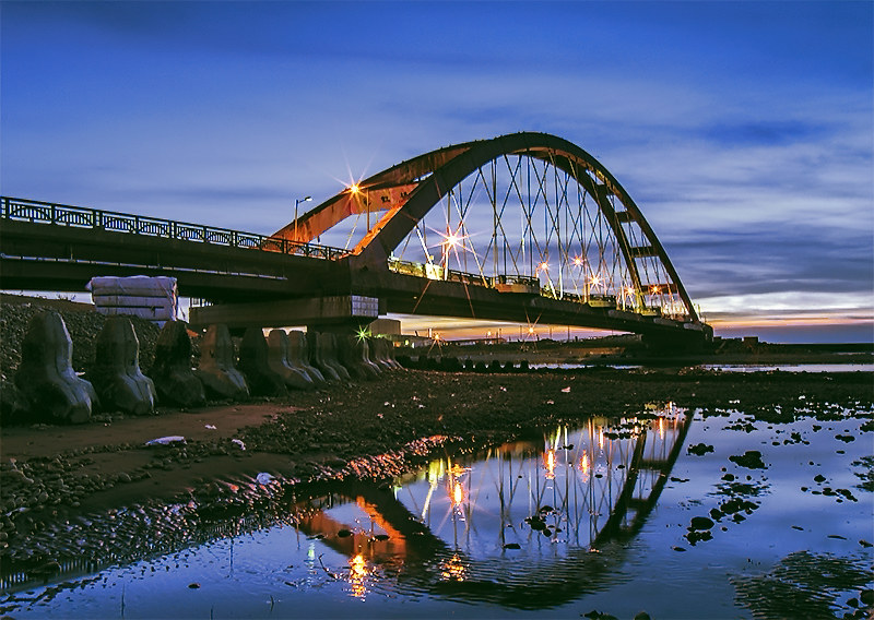 日落彩虹橋
