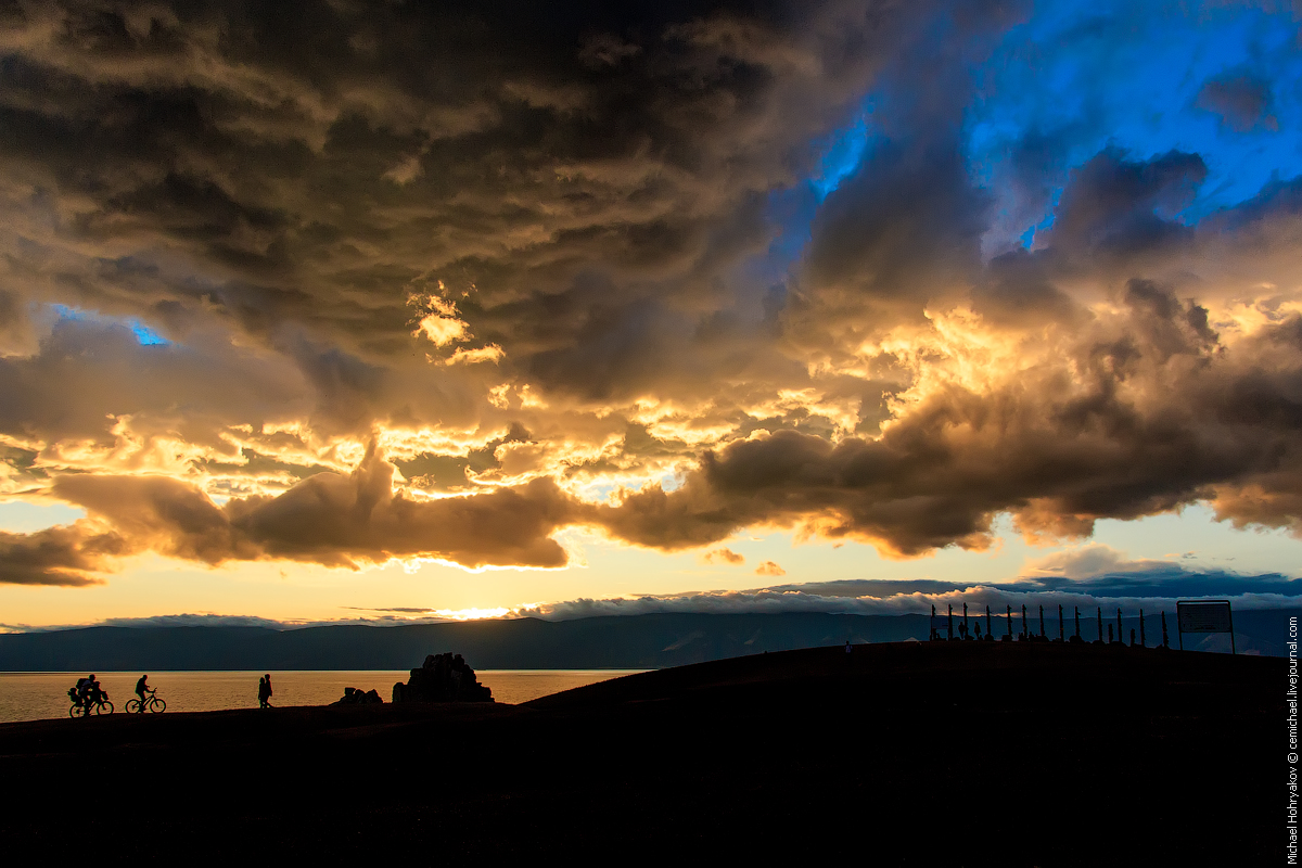 Baikal Sunset in the Raw