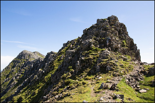 Descending Sgurr nan Spainteach