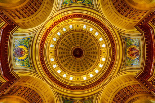 wisconsin architecture ceiling capitol madison dome rotunda