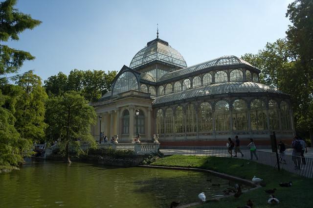 マドリード レティーロ公園 クリスタル宮殿