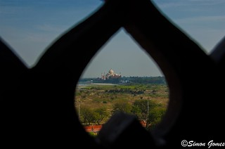 With love from Agra fort to Tajmahal