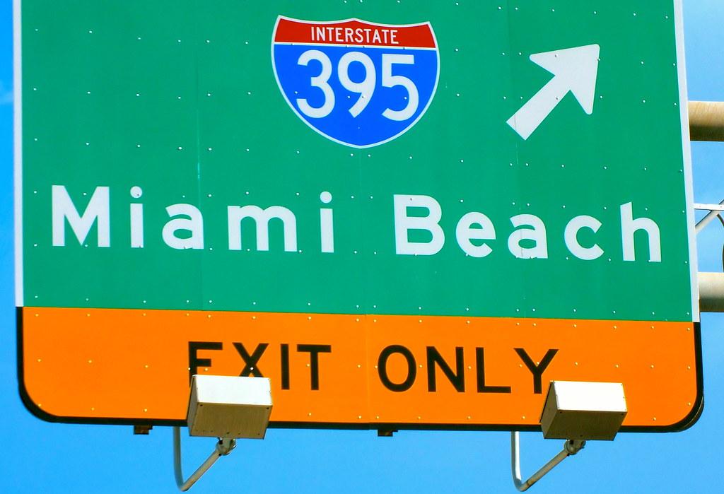 road-trip : Panneau Miami beach
