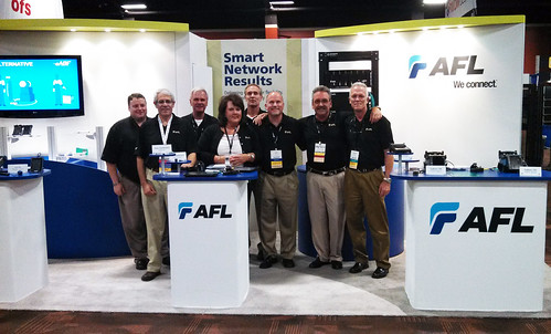 Our team in new booth at BICSI Fall 2013
