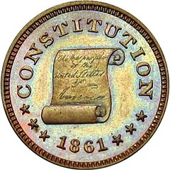 1861 Concession Before Secession Token obverse