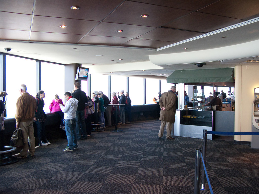 Inside the observation deck at the CN Tower