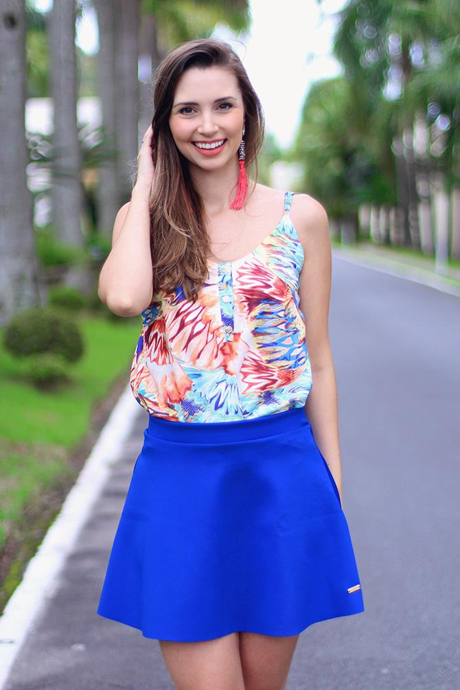 3-look com saia azul bic lamandinne blog sempre glamour