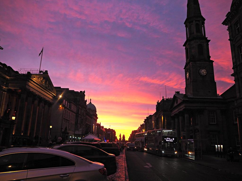 Edinburgh George Square sunset 2