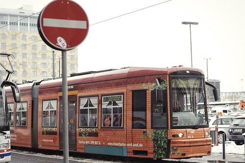 Tram. Frankfurt. Germany