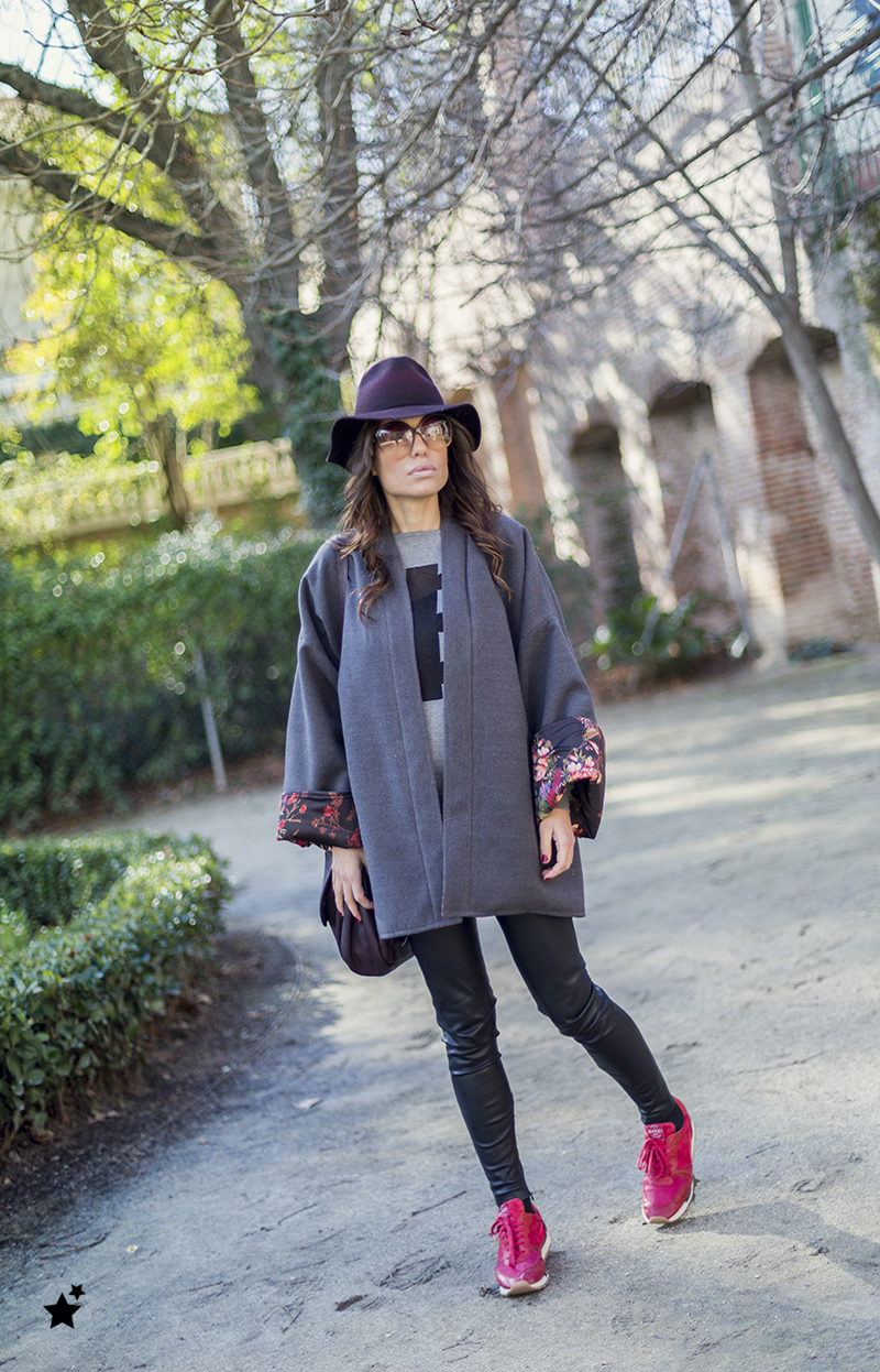 street style barbara crespo khemeia kimono reversible hakei sneakers marc by marc jacobs bag fashion blogger outfit blog de moda