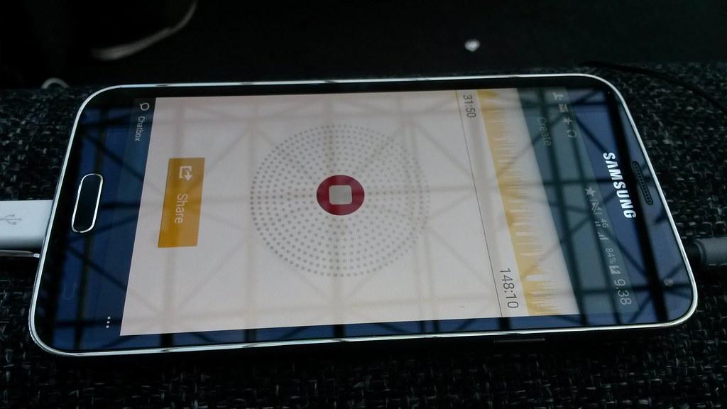 Spreaker-aps Samsung Galaxy S5 -android-puhelimessa