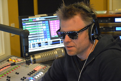 Brice Nice on the air in the WWOZ sunglasses. Photo by Kichea S Burt