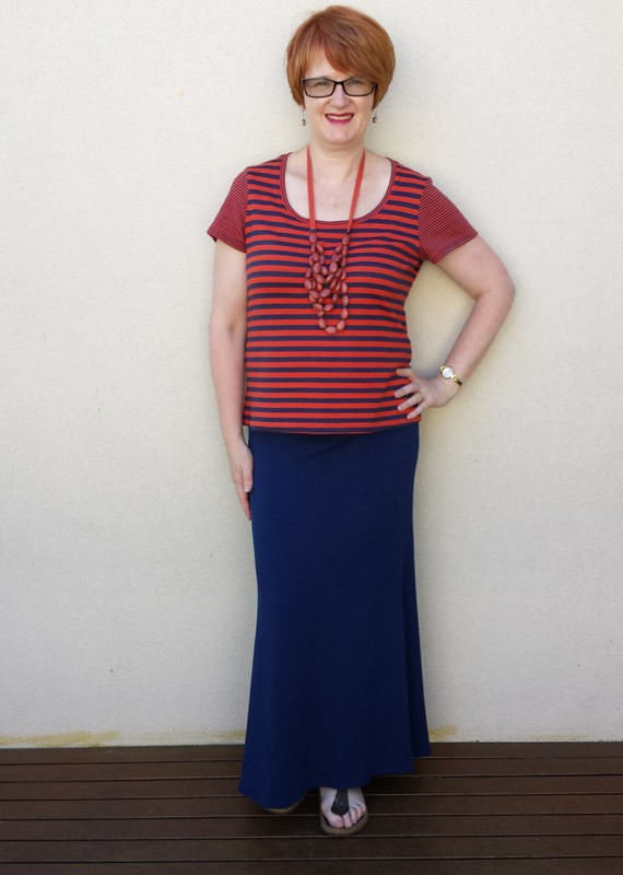 SBCC Cosmo maxi skirt with Tonic tee