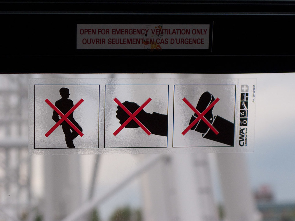 Funny sign on skywheel.
