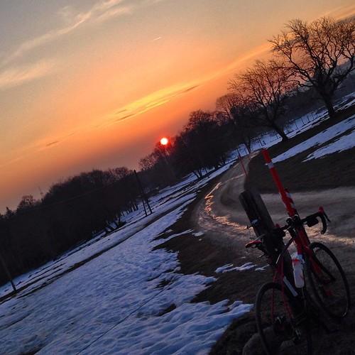 road sunset sky bike evening ride instagram ifttt 17032015