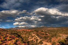 La Sal Mountains from Desert Rocks