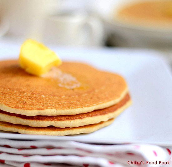 Eggless wheat flour pancake