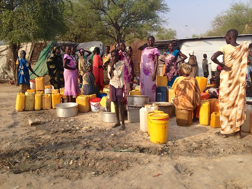 Oxfam is repairing damaged boreholes like this one in Lankien, South Sudan