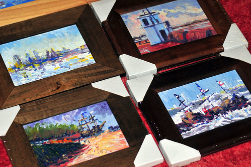 Small paintings (5x7 in)  ready for saturday shop