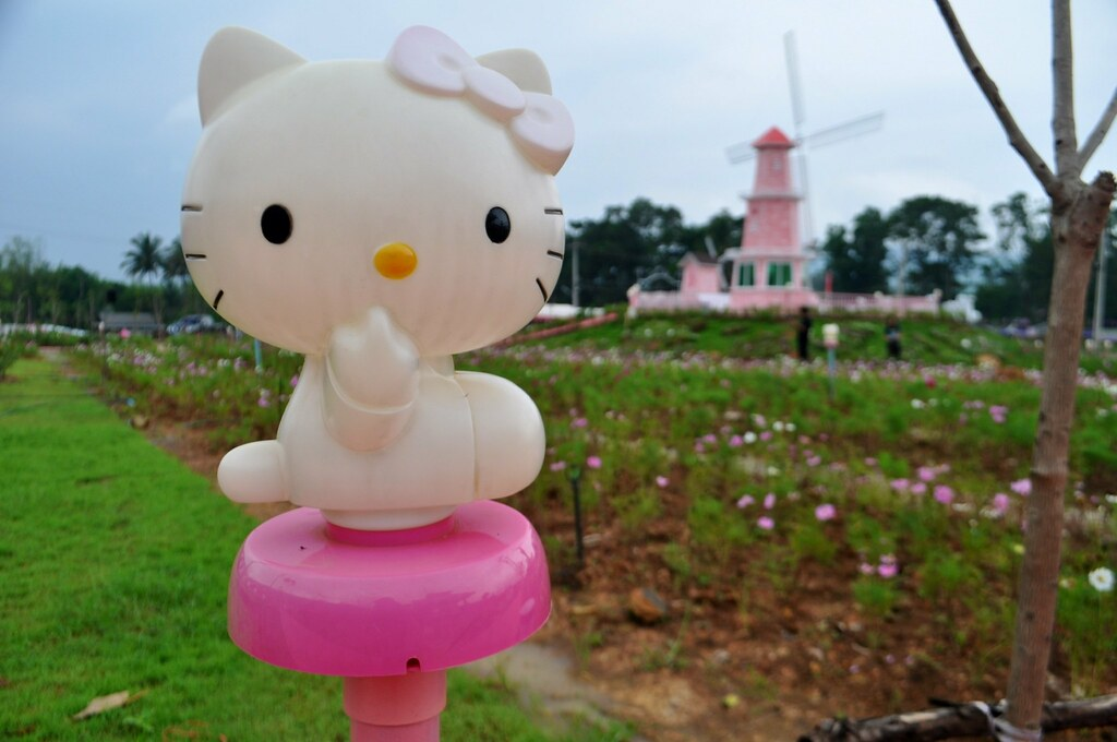 Well, Hello Kitty. At the Kitty Resort in Thailand.
