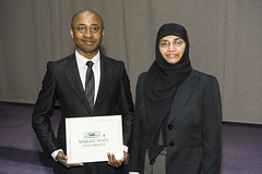 Environmental Health Student Excellence Award presented to Mosimah Ituka by Naila Khalil