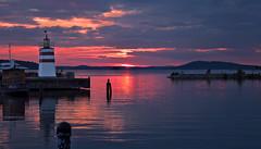 Sunset on the lake Vesijärvi