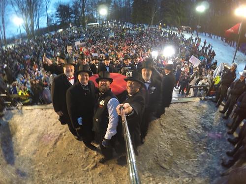 Groundhog Day Selfie with Punxsutawney Phil 2015