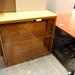 Glass 2 drawer cabinet