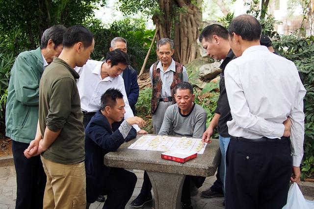 men playing chess, Nanning, Guangxi, China