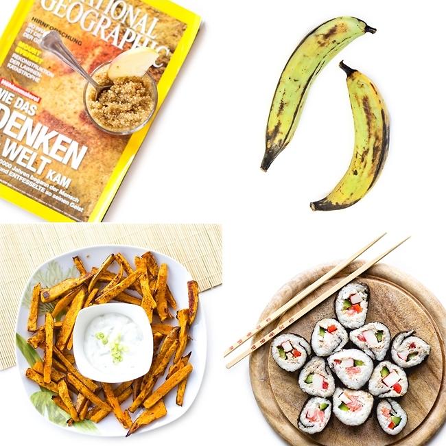 Instagram, Süßes Quinoa, Süßkartoffelpommes, Selfmade Sushi, Kochbananen