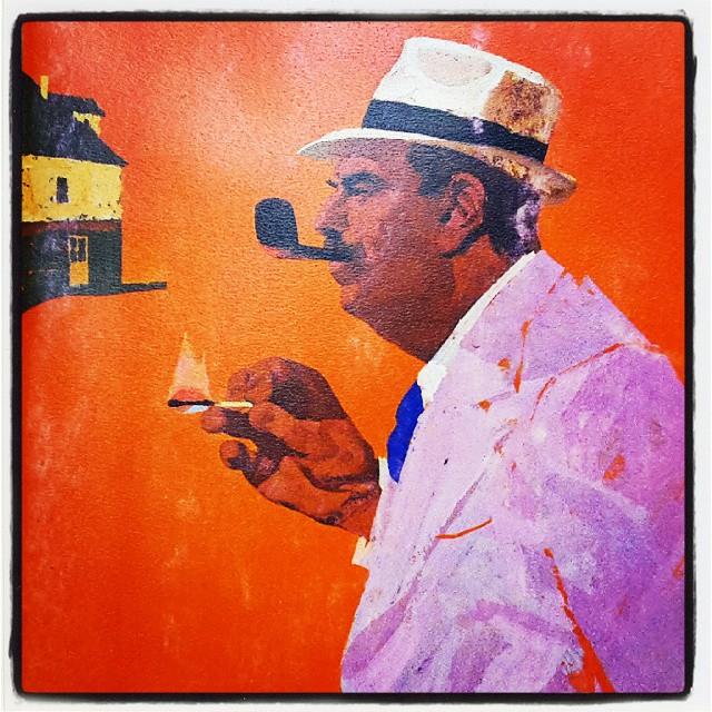#maigret #simenon #ginocervi #giallo #poliziesco #pipa #baffi #cappello #osteriadeiduesoldi