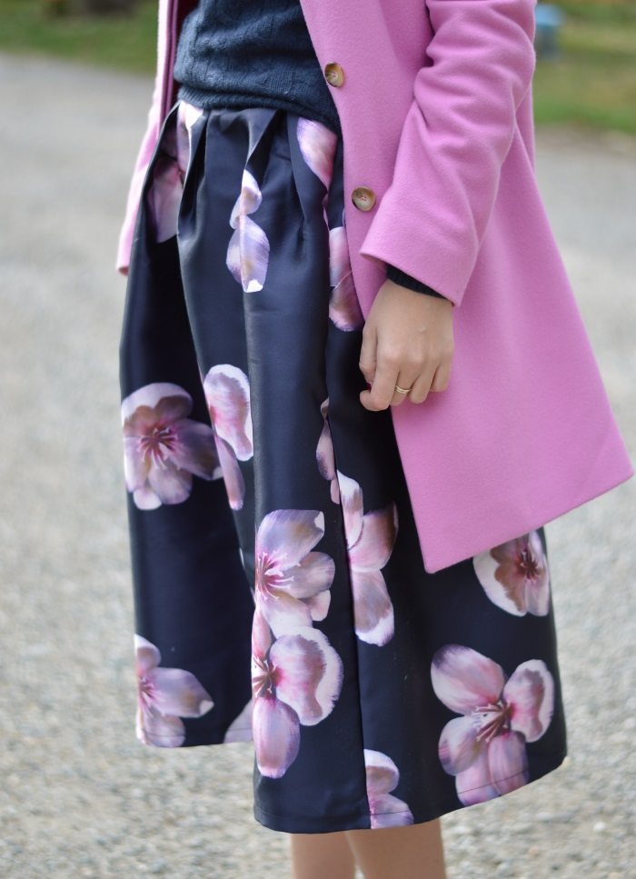 skirt, romwe, fiori, rosa, Benetton, wildflower girl, tacchi, outfit (13)