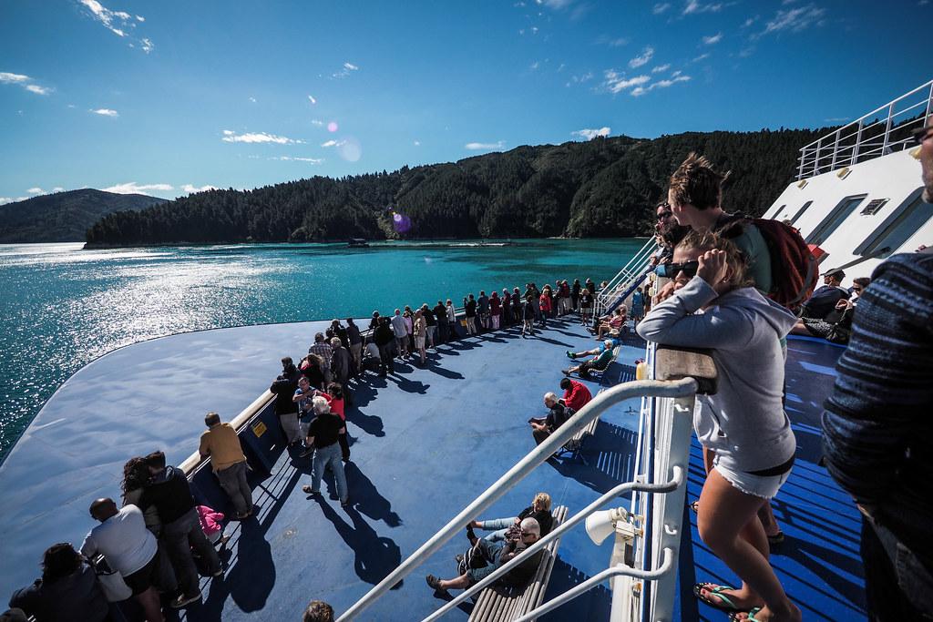 Nice weather for the InterIslander Ferry, New Zealand