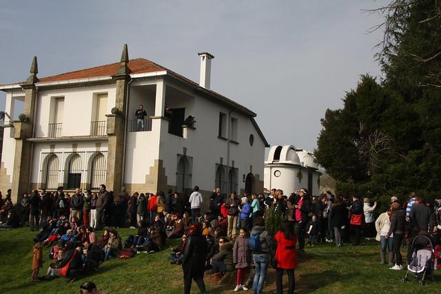 Seguimento da eclipse do 20 de marzo de 2015 (Observatorio Astronómico Ramón María Aller, de  Santiago de Compostela)
