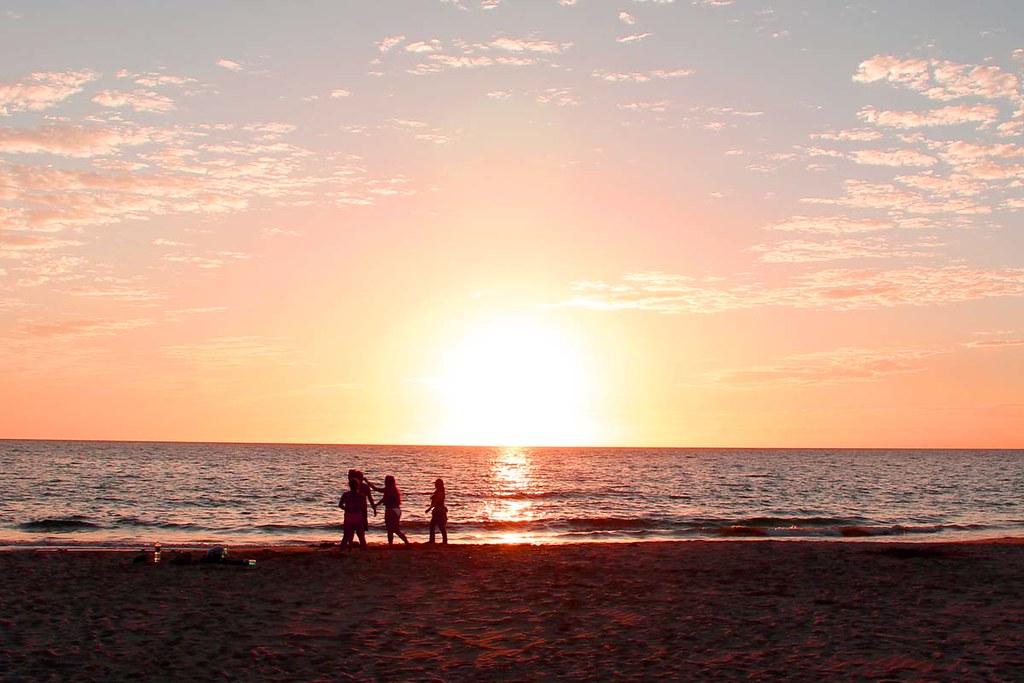 ハプナビーチのサンセット(夕日)