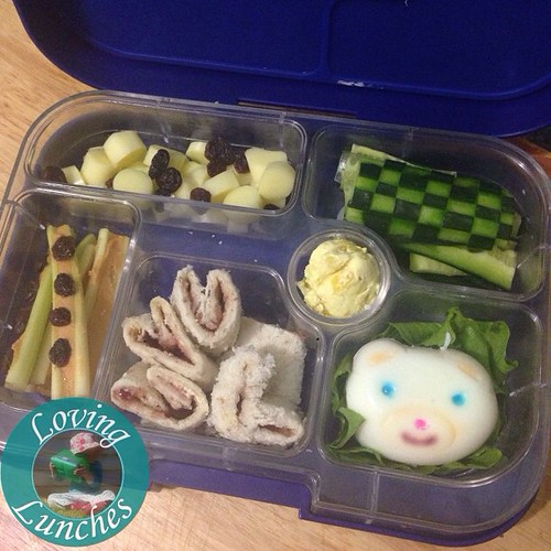 Loving Honey's very first official Bento box! She has a #Yumbox packed as a grazing plate for our stall at the local playgroup open day tomorrow… pop on down and say hi! @minihippoau #bento