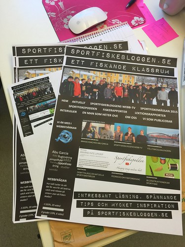 Fredrika på skolans marknadsavdelning har  gjort en rollup och affischer till Sportfiskemässan. Vi är supernöjda! :-)