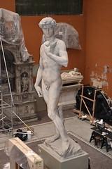 Michelangelo Buonarotti (1475-1564) - David (19th century plaster cast) above front left, Victoria & Albert Museum, London, summer 2012