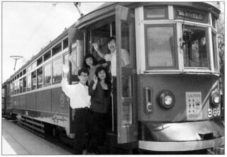"""H"" Type Glenelg Tram 366, Victoria Square, early 1990's"