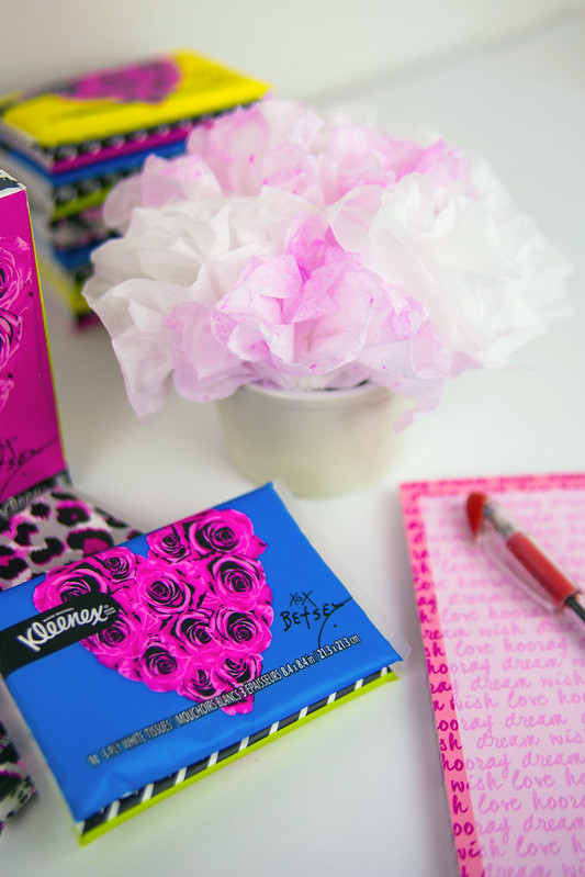 Betsey Johnson Kleenex Tissue Bouquet