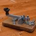 Home Brew Striped ebony Telegraphy key knob fitted to a vintage GPO morse key