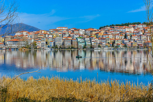 kastoria lake landscape city colour architecture nature hellas macedonia greece macedonian makedonia timeless μακεδονια